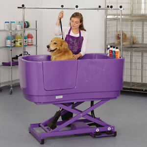 Hydraulic Lift Pet Grooming Tub