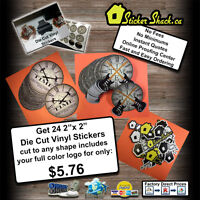 Custom Die Cut Vinyl Stickers & Apparel…Amazing Prices!!