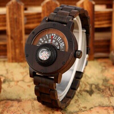 Handmade Natural Wood Men's Sport Quartz Wrist Watch Full Wooden Bracelet Strap Teens Wooden Bangles