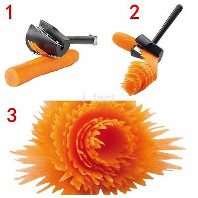 Practical Vegetable Cutter Peeler Spiral Volume Flower Slicer Carrot Curler New