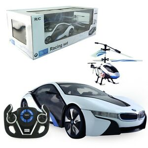 Rastar BMW Remote Contolled Racing Set Car and Helicopter New
