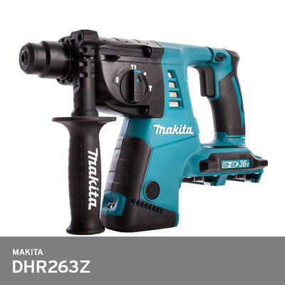 Makita Dhr263z Rotary Hammer Lxt 36v 26mm Li-ion Cordless Sds Ergonomic Bare Too