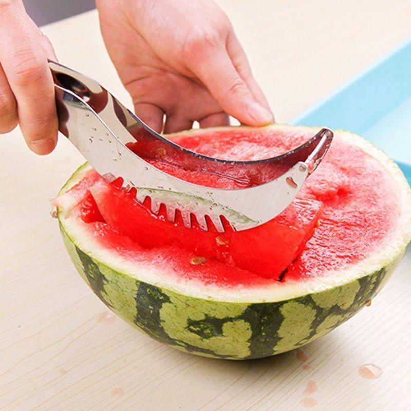 Watermelon Melon Slicer Server Knife Cutter Corer Scoop Stainless Steel Tool Home & Garden