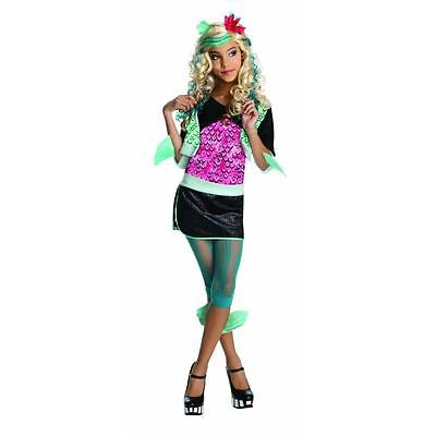 New Girl Monster High Lagoona Blue Halloween Costume Wig Set Size Small 4-6