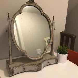 Refinished Antique Berkey and Gay Furniture Shaving Mirror