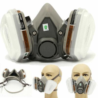 6200 Staubmaske Lackiermaske Atemschutz Halbmaske Gasmaske Mit Wechselfiltern
