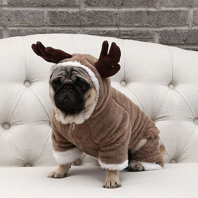 Pet Costume Dog Jumpsuit Sheep Roleplay Christmas Clothes Pug French Bulldog Thi