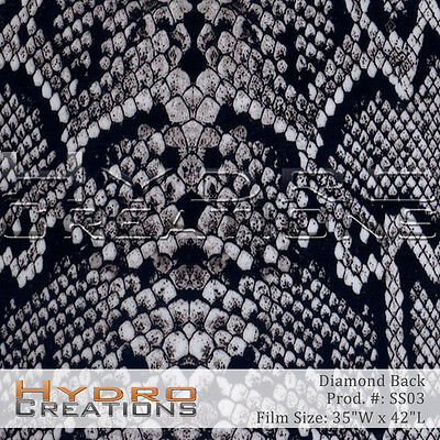 Hydrographic Film Hydro Dipping Water Transfer Diamond Back 35 X 42