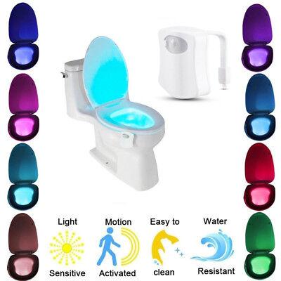 Led Toilet Night Light Body Sensing Automatic Motion Bathroom Sensor Lamp