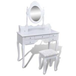 Dressing Table White Mirror Stool Drawer Jewellery Cabinet Makeup Sydney City Inner Sydney Preview