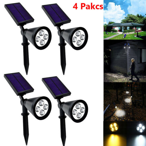 4Pack Solar Lights Waterproof Outdoor Landscape Lighting Spo