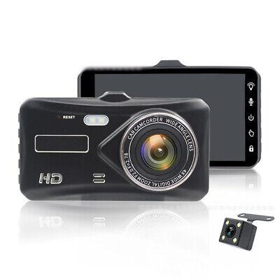"""4"""" 1080P Car DVR Dash Cam Video Recorder Camera Dual Lens G-Sensor Touch Screen"""