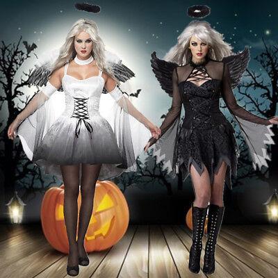 Halloween Women Girl Wings Angel Devil Ghost Vampire Cosplay Fancy Dress Costume](Angel Demon Halloween Costumes)