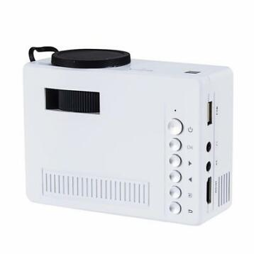 Mini beamer projector LED HDMI VGA USB SD 1080P *WIT*
