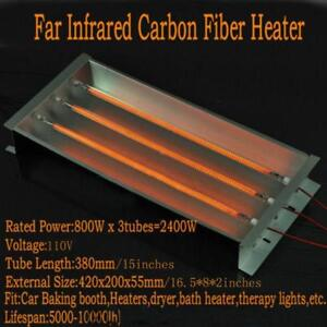 2400w 110V Spray/Baking Booth Infrared IR Paint Curing Heating Lamp Body Shop Booth 220399