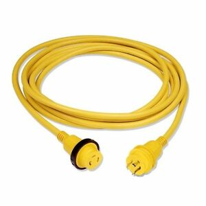 NEW 30A 125V Marine Shore Power Boat Cord Cable 25' Yellow- 30 amp 125 volt CM