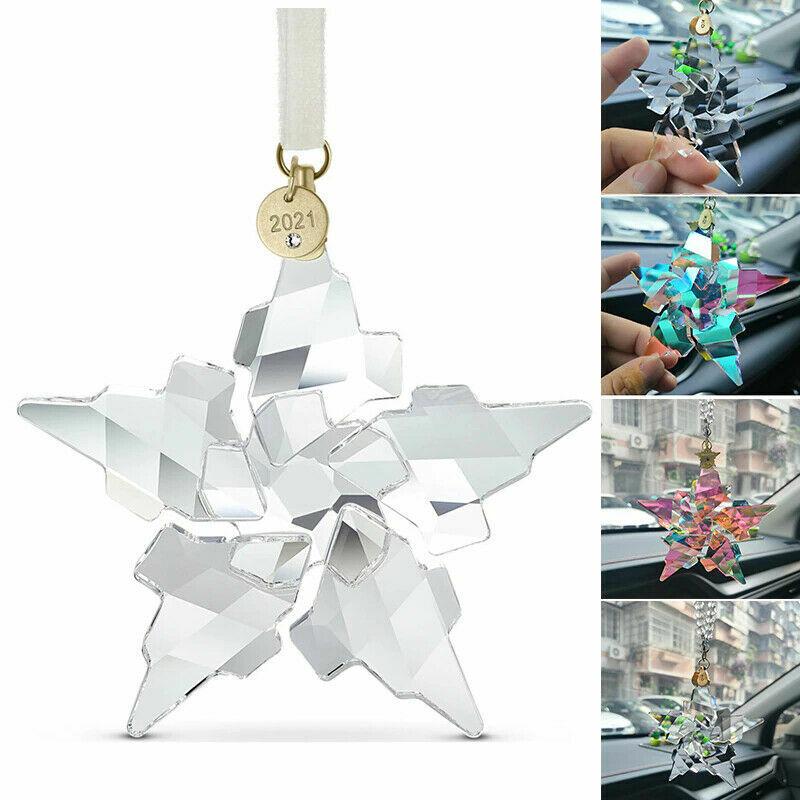 Swarovski Crystal 2021 Xmas Annual Edition Ornament Snowflake Christmas Gift