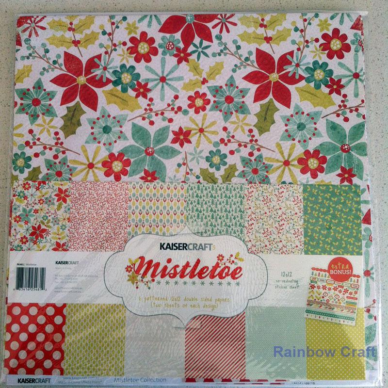 Kaisercraft Paper Pack Bonus Sticker Sheet Christmas Carol Secret garden - Misteltoe