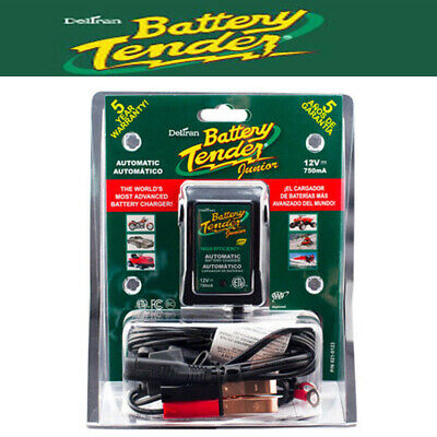 Deltran 12 Volt 750mA Battery Tender JR Maintainer Motorcycle Charger 021-0123