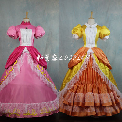 Super Mario Princess Peach Daisy Adult Costume Bros and Luigi Cosplay Dress](Mario And Peach Costumes)