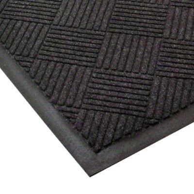 Entrance Floor Mat 3 Feet Wide Diamond Pattern Charcoal - 10