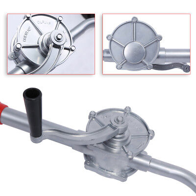 70rpm Portable Alloy Rotary Fuel Petrol Hand Crank Oil Gas Barrel Drum Pump Us