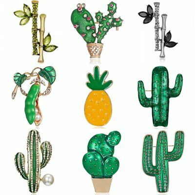 Green Plants Leaf Brooch Pin Cactus Women Costume Wedding DIY Bouquet Jewelry](Diy Costume Women)