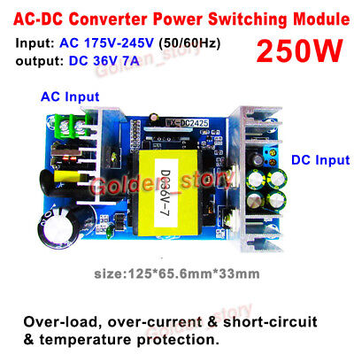 Ac-dc Converter 220v 230v 240v To Dc 36v 7a Isolated Switching Power Transformer