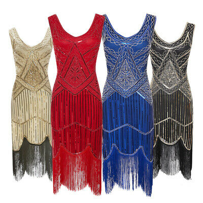1920s Clothes For Women (Womens 1920s Gastby Inspired Sequined Embellished Fringed Flapper Tassel)