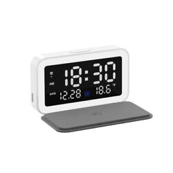 LED Electronic Alarm Clock Multifunctional Wireless Charger Bedside Night Light