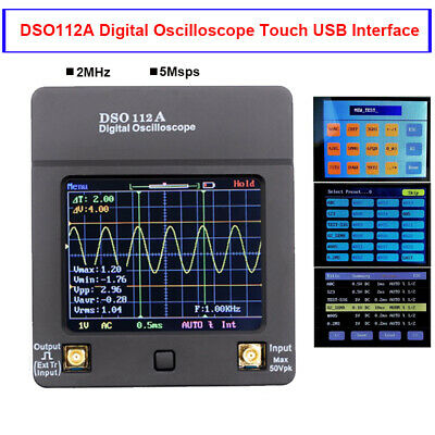 Dso112a Digital Oscilloscope Mini Portable Usb Tft Multimeter Tester 2mhz 5msps
