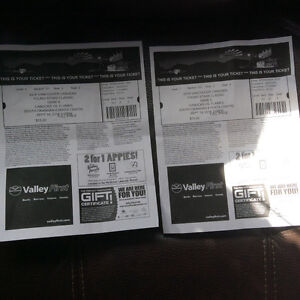 2 Tickets to Canucks Flames Young Stars Game