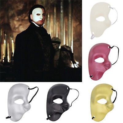 Half Face Mask Masquerade Party Phantom of Opera Venetian Halloween Fancy Dress