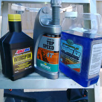 Coolant and synthetic 2 stroke oil