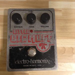 EHX Little Big Muff pedal USED.