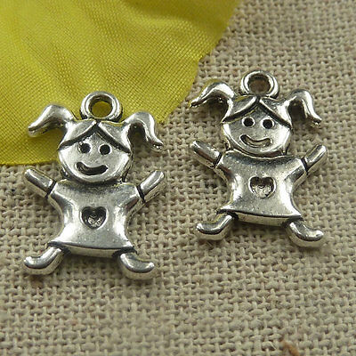 New 10//40//200pcs Antique Silver Lovely spider Jewelry Charms Pendant DIY 19x14mm