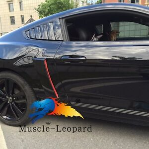 2015 2016 Mustang Cervini Style Window Louvers Gloss Black Painted