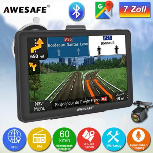 """7""""AWESAFE GPS Navi Navigation mit Bluetooth Rückfahrkamera LKW Navigationsgerät"""