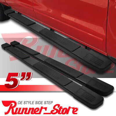 "For 01-16 Silverado/Sierra Crew Cab 5"" Running Board Side Step Nerf Bar Black S"