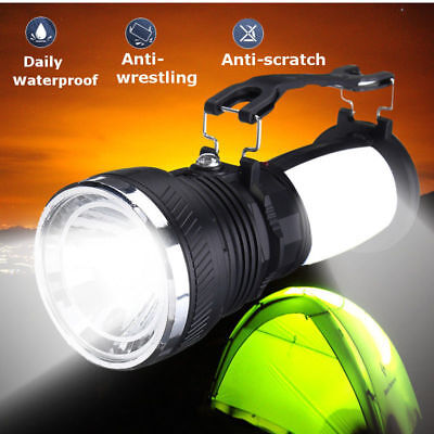 solar rechargeable led flashlight hiking camping tent