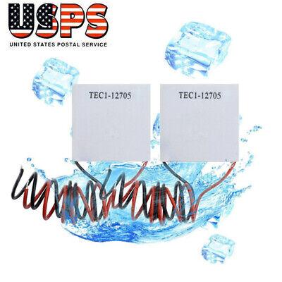 2 X Tec1-12705 Thermoelectric Cooler Peltier 4040mm 12v Peltier Element Module