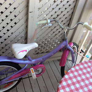 """18 """"girls bike ...  Excellent condition 1 year old"""