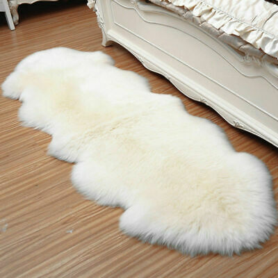 Artificial Wool Fur Mat Faux Sheepskin Hairy Room Rug Baby Photo Shaggy Carpet