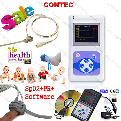 Infantpediatricneonatechild Finger Pulse Oximeter Spo2 Pr Bloodoxygen Monitor
