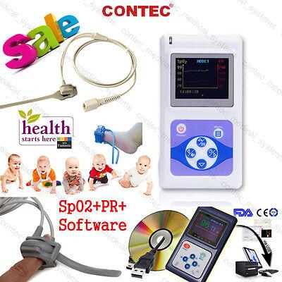 Infantpediatricneonatechild Finger Pulse Oximeter Spo2 Pr Bloodoxygen Monitor