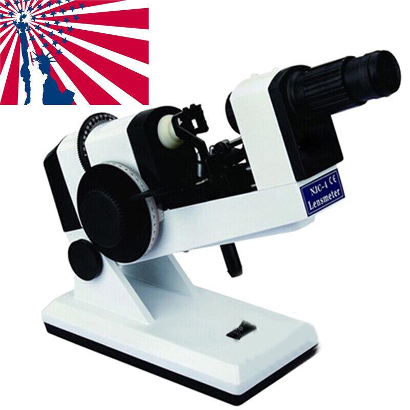 FDA Manual Lensmeter Focimeter Lensometer Optometry Optic Machine AC/DC for Lab