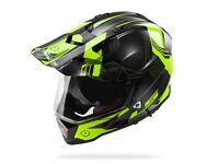 LS2 MX436 PIONEER TRIGGER HELMET BLACK HI-VIS YELLOW (OFF ROAD)