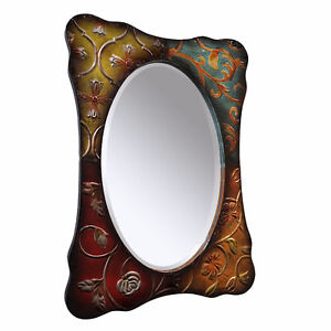 River of Goods Metal Multi-Colored Mirror, New