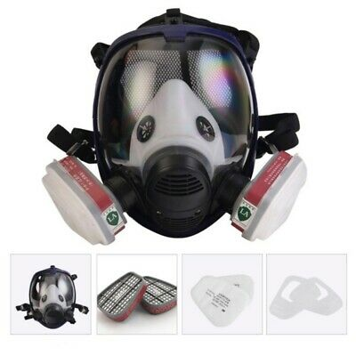 Large Respirator Gas Mask 7 In 1 Full Face Spraying Painting For 6800 Facepiece