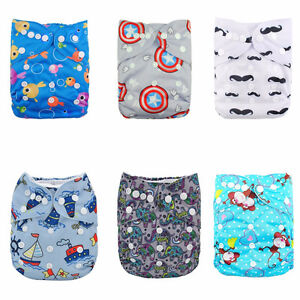 Alva Cloth Diapers & Inserts with wet dry bag